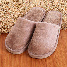 Soft Plush Home Slippers Men Indoor Cotton Shoes Big Size Winter Casual Sneakers For Men Floor Warm Slipper(China)