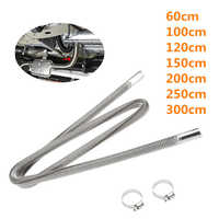 60-300cm Air Parking Heater Stainless Steel Exhaust Pipe Tube Gas Vent Fit Air Diesels Parking Tank Car Heaters Accessories