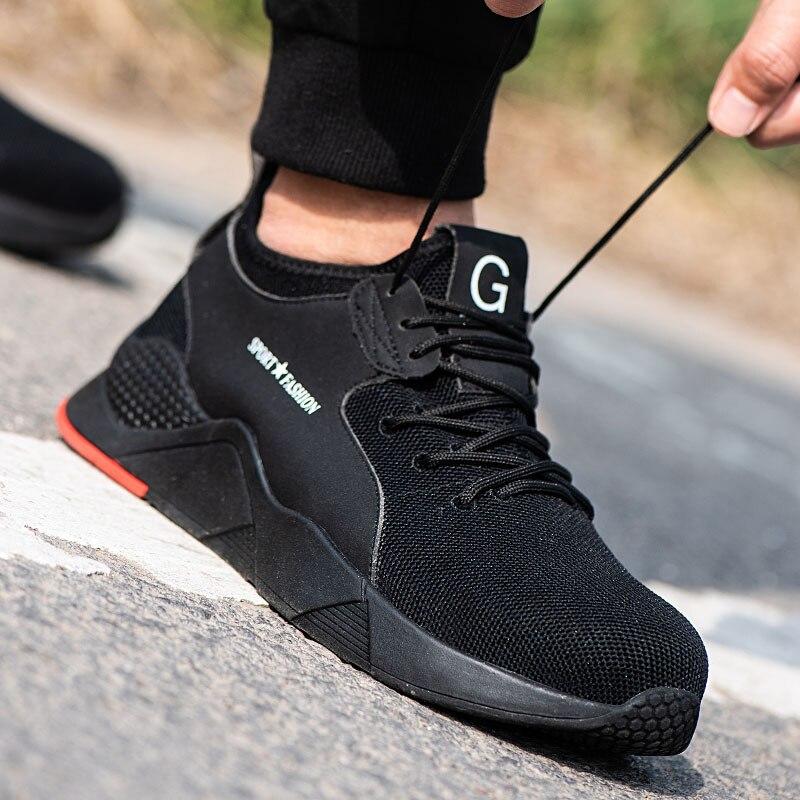 Защитная обувь Летняя дышащая дезодорирующая сетчатая обувь с защитой от Разбивания и проникновения безопасная защитная обувь