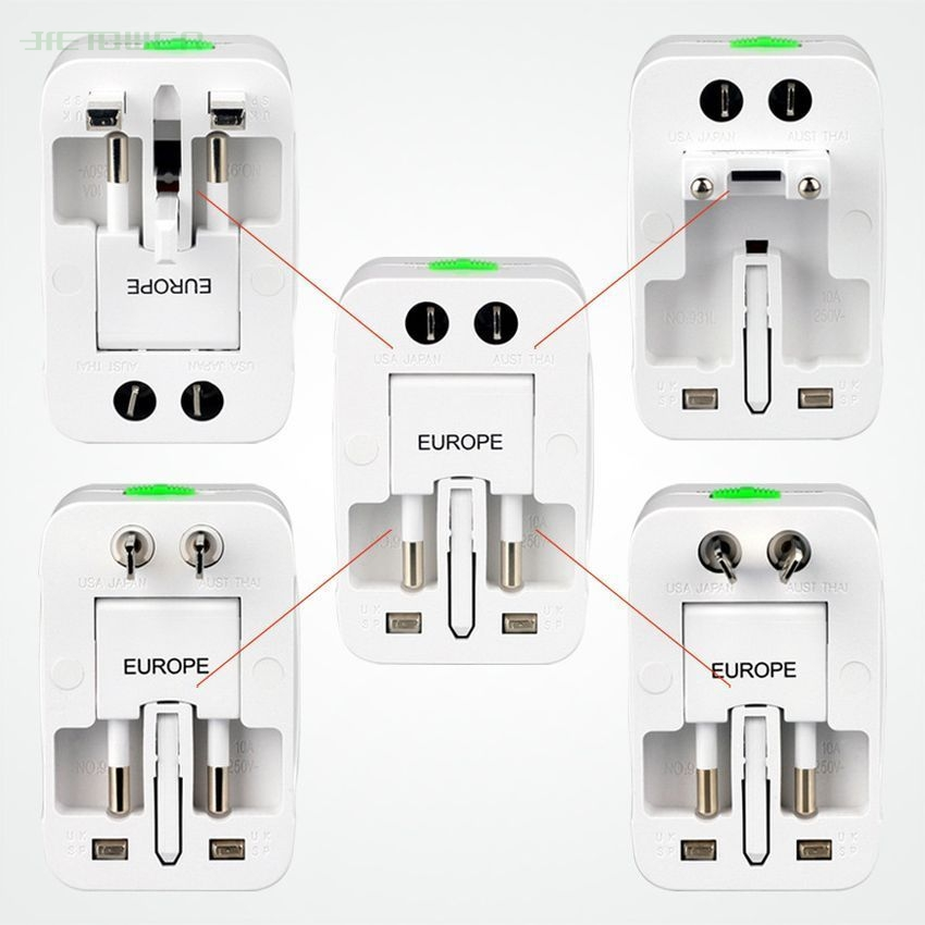 Power-Plug Charger-Adapter Adaptor-Socket Universal Travel Common UK 1 Abroad EU AC US