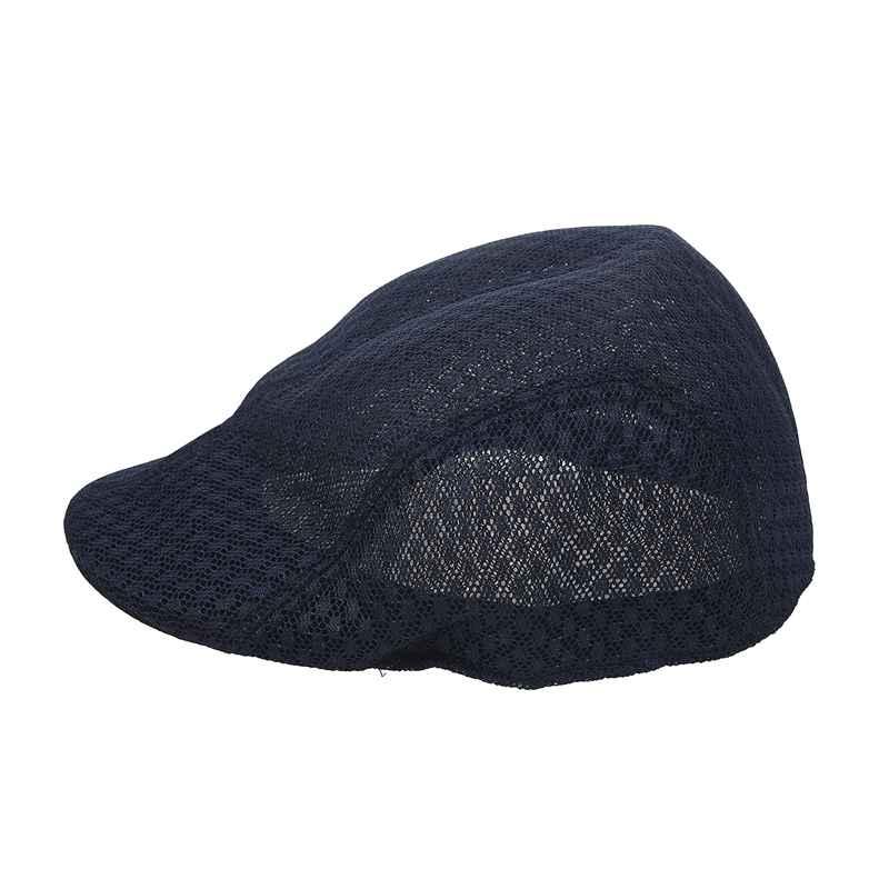 Nova malha dos homens gatsby chapéu cabbie boné liso newsboy golfe boina chapéus irlandeses marinha