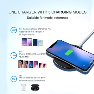 Image 3 - 10W Fast Qi Wireless Charger For Samsung S10 S9 Plus Note 8 9 Wireless Charging Pad For iPhone XR 11 Pro Max X XS USB Chargers