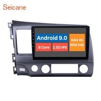 Seincane Android 9.0 car radaio GPS navigation for HONDA CIVIC 2006 2007 2008 2009 2010 2011 LHD support 4G WIFI DVR OBD2