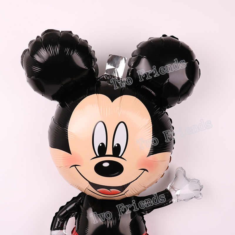112 Cm Giant Mickey Minnie Mouse Balon Kartun Foil Pesta Ulang Tahun Balon Baby Shower Pesta Dekorasi Mainan Hadiah