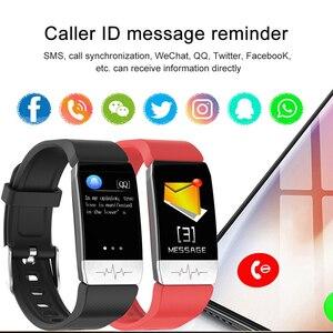 Image 5 - T1 ecg monitor de saúde relógio inteligente termômetro medição temperatura executar rota trilha controle música esporte smartwatch masculino feminino