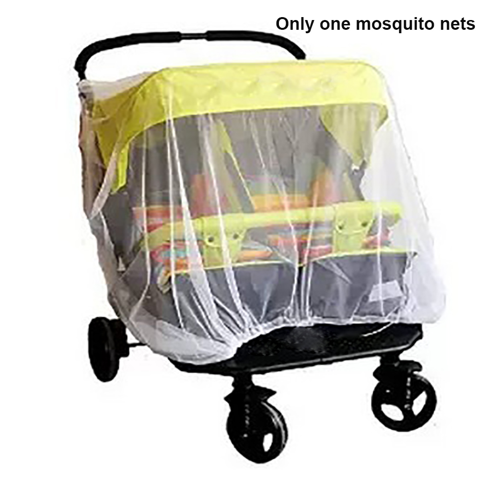 Mosquito Net Shield Outdoor Crib Baby Kid Foldable Safe Mesh Double Stroller Accessories White Full Cover Buggy Pushchair