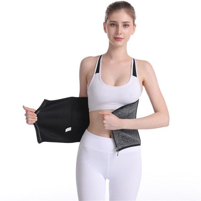 Women's Sports Waist Shaping Belt Neoprene Waistband Body Shaping Sweat Abdomen Belt Slimming Belt Slimming Wraps Belly Holding 4