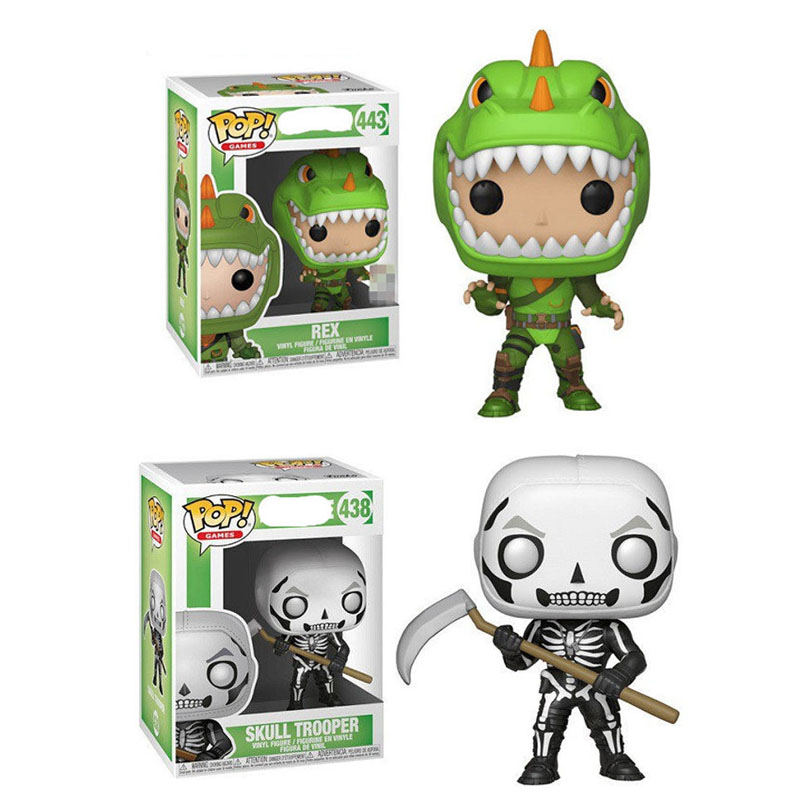 FUNKO POP Fortnight The Fortress Night Skull Trooper REX Vinyl Action Figure Collection Model Toys For Children Christmas Gift
