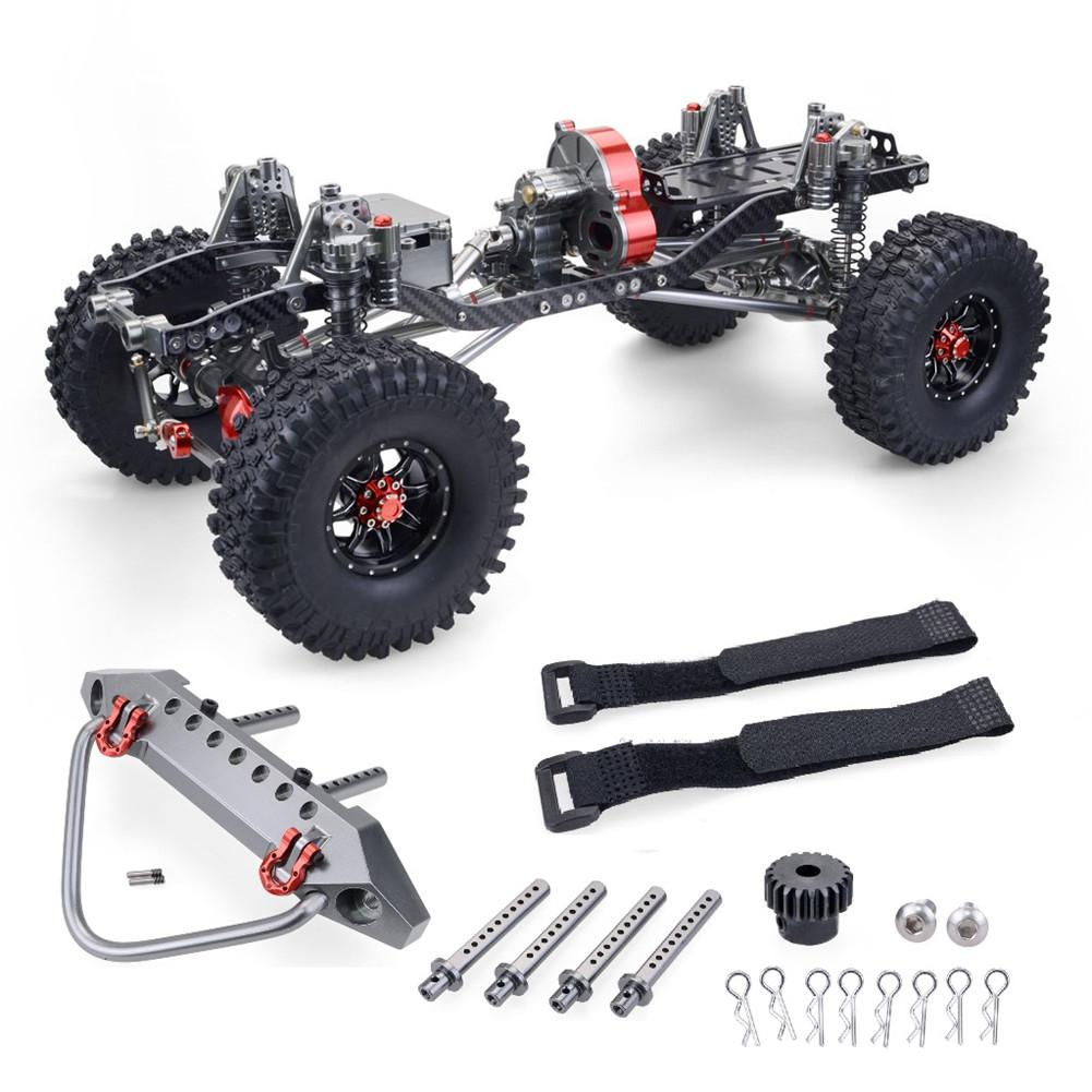 RC Racing CNC Aluminum Metal and Carbon Frame for RC Car 1/10 AXIAL SCX10 Wrangler Chassis 313mm Wheelbase Vehicle Crawler Parts