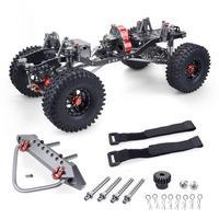 Rc racing cnc alumínio metal e quadro de carbono para carro rc 1/10 axial scx10 wrangler chassis 313mm wheelbase veículo rastreador peças|Peças e Acessórios|   -