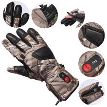 SAVIOR Winter Warm Rechargeable Battery Heated Hunting Gloves Electric Heating Gloves for Skiing Racking Cycling Fishing