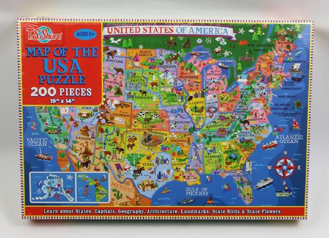 200pcs United States World Map Jigsaw Puzzle Animals World Paper Puzzles Adult Decompression Games Kid Children Educational Toys 2