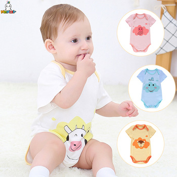 Cheap Cotton Baby Bodysuit Short Sleeve Unisex Outfit Onesie Set Children Clothes Lovely Newborns Girls Boys Cartoon Ropa Bebe