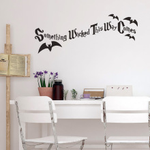 Halloween Creative Text Decoration Wall Glass Sticker Black Student Dormitory Carved Post Home