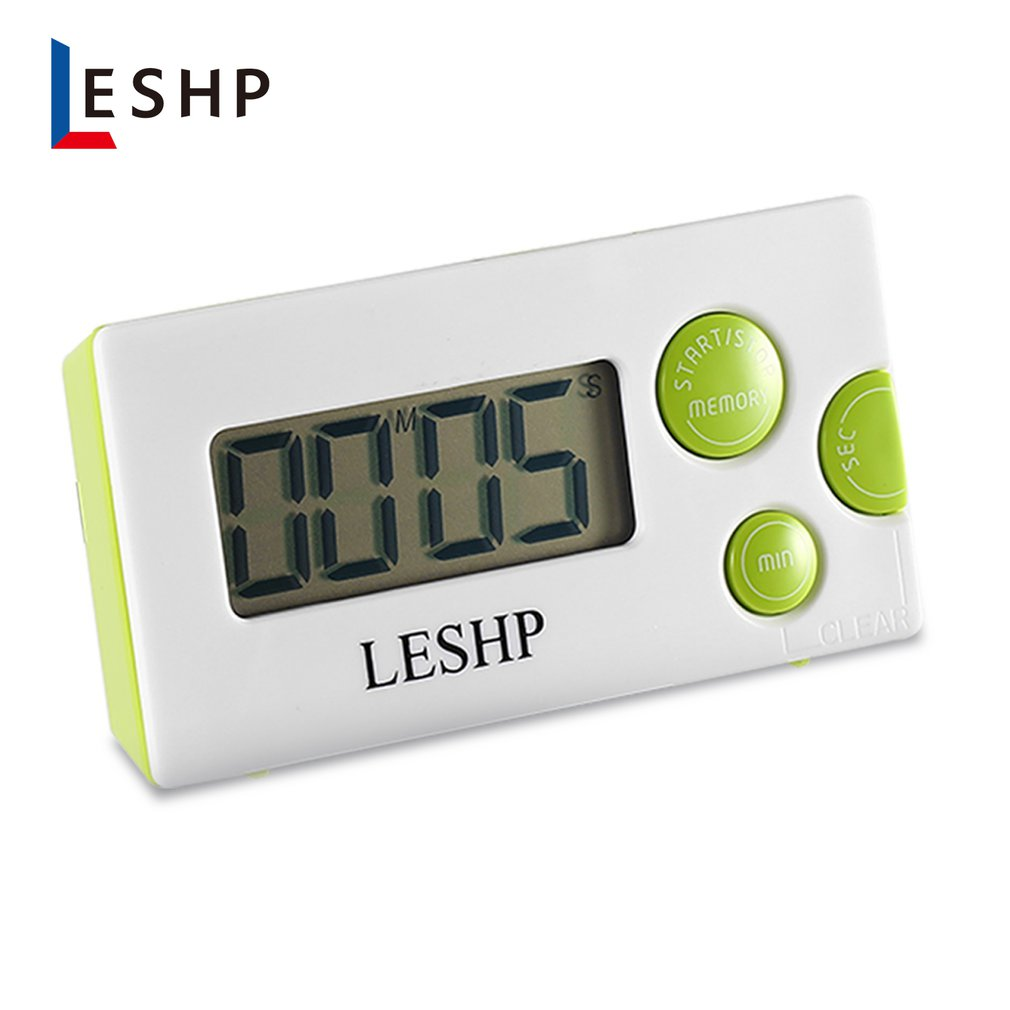 LESHP LCD Display Digital Countdown Tool Kitchen Gadgets Soup Cooking Electronic Timer Count Down Alarm Desk Clock Portable
