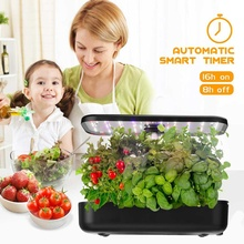 Ecoo Grower Hydroponics Growing System Indoor Herb Garden Starter Kit with LED Light 12 Ports Smart Garden Planter for Home