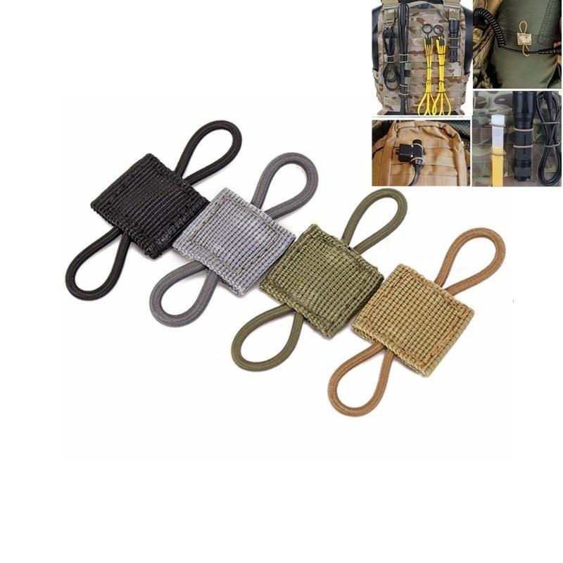 Тактическая мягкая эластичная ленточная Пряжка MOLLE, тактический связывающий фиксатор для антенны, трубки, эластичная ленточная пряжка