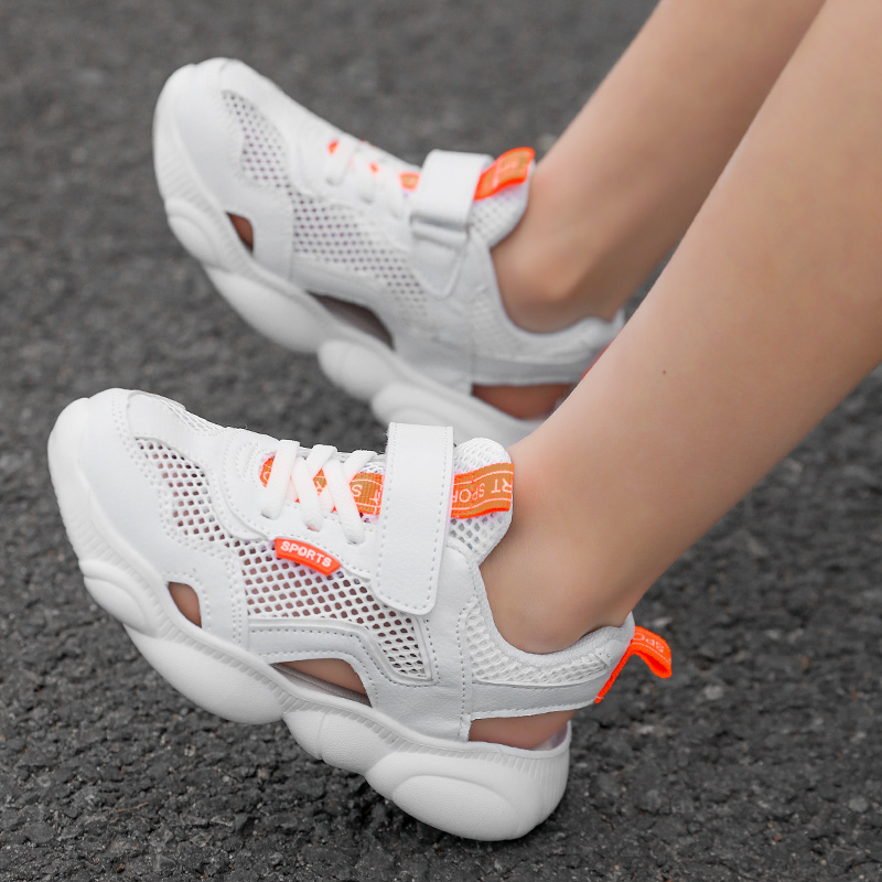 2020 Summer Fashion Kids Shoes Cut-outs Air Mesh Breathable Shoes For Boys Girls Children Sneakers Baby Boy Girl Sandals
