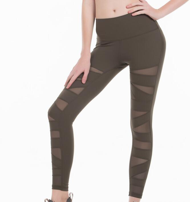 H308cc69efc9a4a17ae835f92a8b342c6D 2020 women mesh leggings skinny sport pants