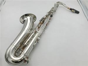 Image 1 - BULUKE סקסופון Bb טנור סקסופון ניקל מצופה מושלם Saxofone משלוח חינם עם מקרה שופר כפפות