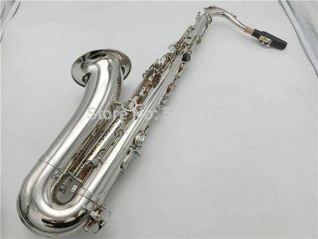 BULUKE סקסופון Bb טנור סקסופון ניקל מצופה מושלם Saxofone משלוח חינם עם מקרה שופר כפפות