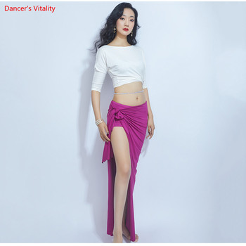 Loose Design Sexy Belly Dance Costume Top Split Long Skirt Oriental Practice Clothes - discount item  22% OFF Stage & Dance Wear