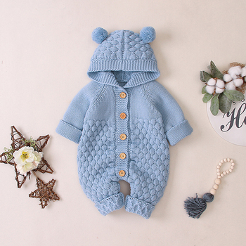 LZH 2020 Autumn Infant Hooded Knitting Jacket For Baby Clothes Newborn Coat For Baby Boys Girl Jacket Winter Kids Outerwear Coat 13