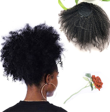 Eseewigs 4B 4C Afro Kinky Curly Human Hair Ponytail For Black Women Natural Color Remy Hair 1 Piece Clip In Drawstring Ponytails eseewigs afro kinky curly human hair ponytail for women natural color remy hair 1 piece clip in drawstring 4b 4c ponytails
