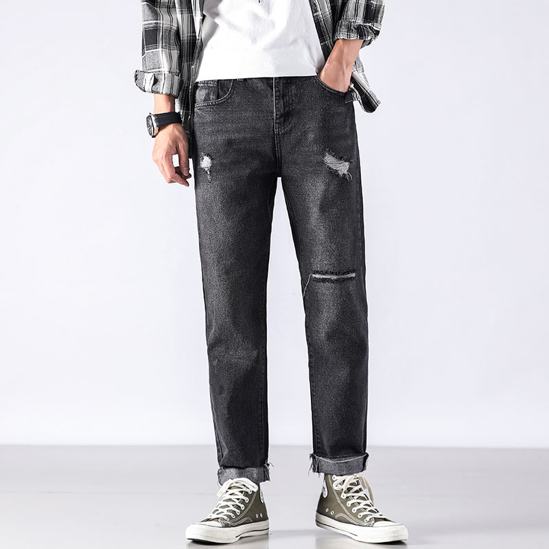 Cheap Wholesale 2019 New Autumn Winter Hot Selling Men's Fashion Casual  Denim Pants MP702