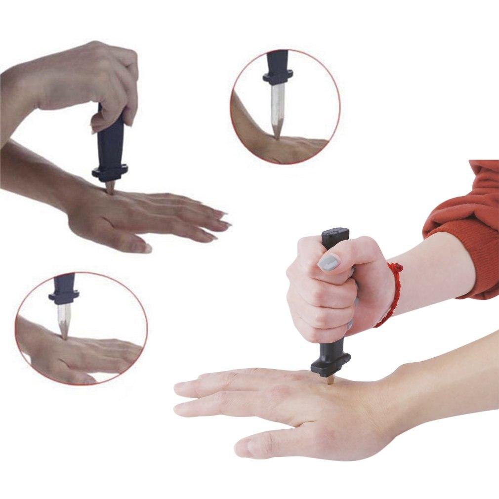Хэллоуин реквизит игрушки шутка волшебный пластиковый выдвижной нож шутка реквизит для розыгрышей нож страшный трюк поддельные кинжалы смешной