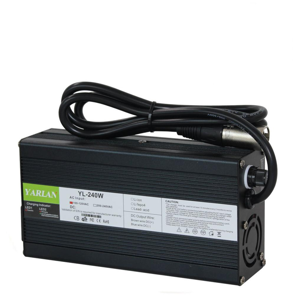 42V 5A Aluminum shellLithium Battery <font><b>Charger</b></font> For <font><b>36V</b></font> <font><b>10S</b></font> Li-Ion Lipo Battery Pack Ebike E-bike Auto-Stop Smart Tools image