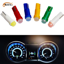 10pcs T5 LED Car Auto LED 1 led smd Side Wedge LED Light Bulb Lamp dash board Instrument White Pink Ice Blue Red Yellow Green стоимость