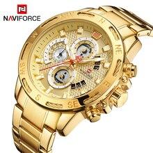 NAVIFORCE Top marka męskie zegarki luksusowe Bussiness zegarek cyfrowy kwarcowy mężczyźni zegarek wojskowy zegar mężczyzna Relogio Masculino 9165