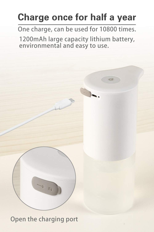 H308d6697a52f48b48cb8d1dc5ed4dab50 - 350ml Bathroom Automatic Soap Dispenser USB Charging Infrared Induction Foam Kitchen Hand Sanitizer Touch Bathroom Accessories