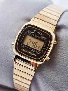 Casio Watch Digital Gold Sport Waterproof Women Relogio Brand Luxury Quartz 68 LED Feminino