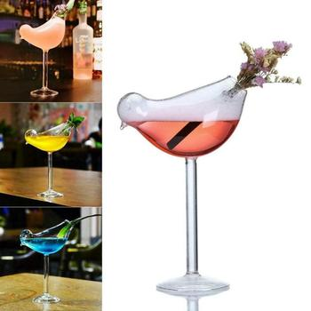 1Pcs Creative Bird Shape Cocktail Glasses Wine Glass Champagne Goblet Whiskey Beer Drinking Cup