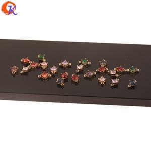 Image 4 - Hartelijke Ontwerp 100Pcs 7*11Mm Sieraden Accessoires/Hand Gemaakt/Crystal Oorbellen Connectoren/Sqaure Vorm/Diy Maken/Earring Bevindingen