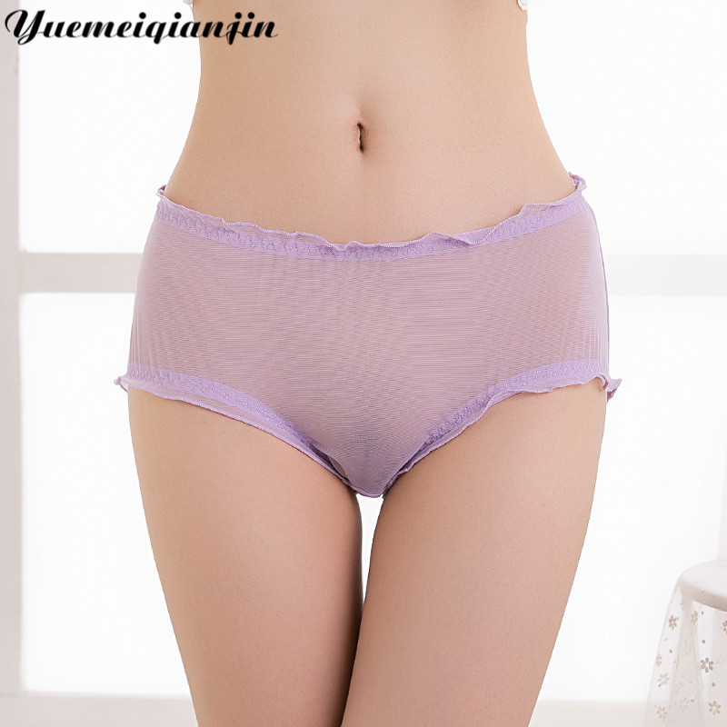 5 Color Ladies Sexy Panties Transparent Lace Briefs Rayon High Quality Comfortable Fit Skin Women Lace Sexy Super Thin Underwear