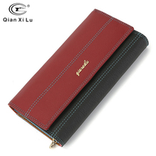 Wallet Brand Coin Purse Genuine Leather Women Phone Wallet Purse Wallet Female Card Holder Long Lady Clutch Carteira Feminina