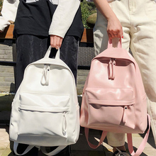 fashion preppy style women backpack leather school bag backpacks for teengers gilrs large capacity pu travel backpack Sac A dos
