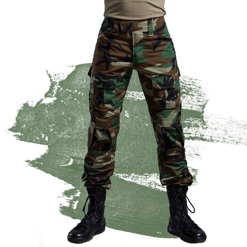 Pantalon tactique militaire hommes Camouflage Cargo Airsoft Paintball pantalon marée armée spécial soldat chasseur travail sur le terrain pantalon de Combat - 5