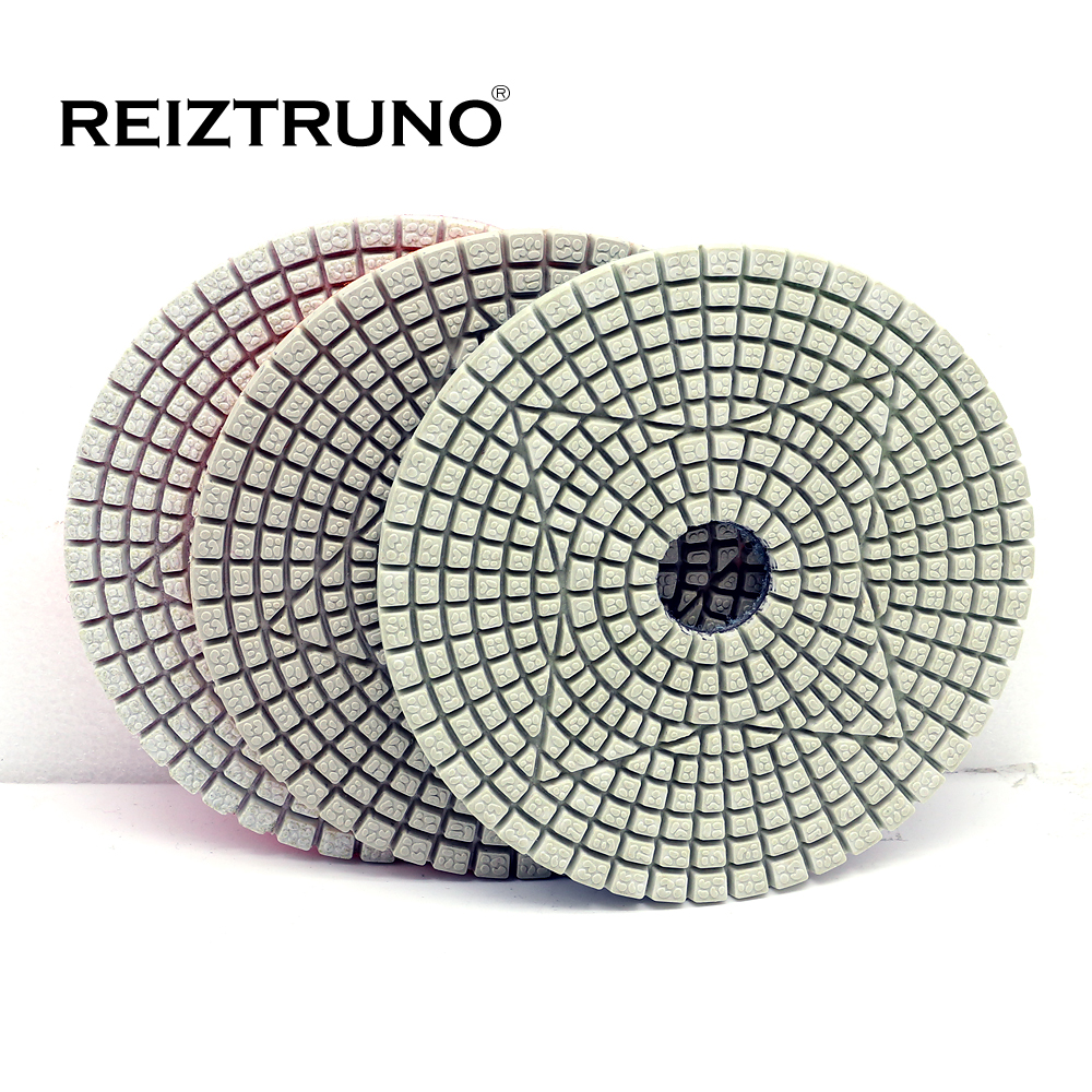 Reiztruno 3 Step Diamond Polishing Pads For Marble,granite And Other Natural Stone Polsihing.4 Inch 100mm,dry Or Wet Use