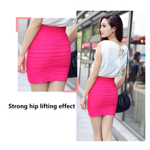Faldas Pencil-Skirt Shorts Clubwear Stretch A-Line Mini Women Fashion Tight Fitted Candy-Color
