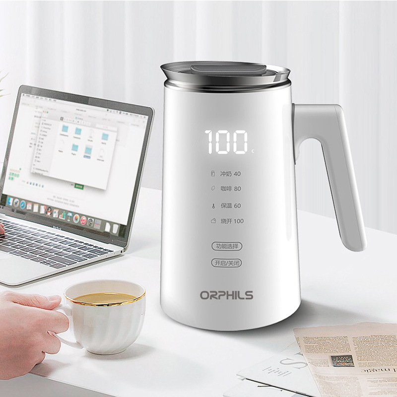 220V  Automatic Electric Kettle Mini Portable Travel Heat Preservation Boiled Water Pot  Adjustable Temperature Kettle 700ml
