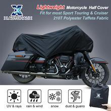 Protetor universal para motocicleta, x autohaux m g xl meia capa 210t à prova dágua e poeira, para áreas externas, proteção uv para motocicleta bicicleta bicicleta