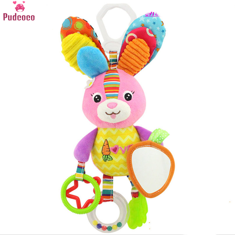 Pudcoco Kid Baby Crib Cot Pram Hanging Rattles Stroller&Car Seat Toy Activity Soft Ringing Bell Toys Developing Pushchair Toy
