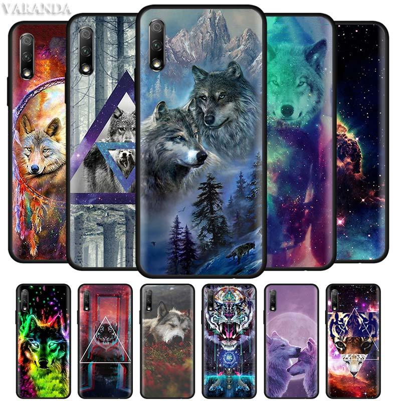 Чехол для телефона с животным, волком, собачкой, пандой, цветком для Huawei Honor Play 3 3e 9X Pro 8S 8A 8X 8C 20 10 20i Lite, Черный силиконовый чехол|Специальные чехлы|   | АлиЭкспресс