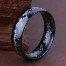 Lord of the ring, Lord of the rings, titanium steel, stainless steel, language letters, rings, jewelry, no fading, free delivery lord of temptation