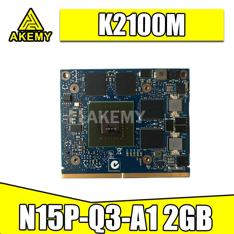 K2100M K2100 GDDR5 2GB Video Graphics Card N15P-Q3-A1 For DELL M4800 For HP 8560W 8570W 8770W ZBook 15 17 G1 G2 100% Test OK image