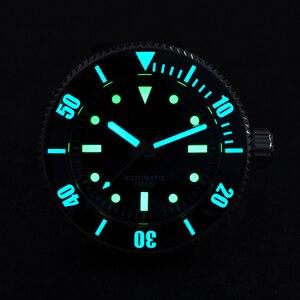 Image 5 - San Martin güneş paslanmaz çelik dalış kuvars erkek saati safir dönen çerçeve siyah 1000m su geçirmez